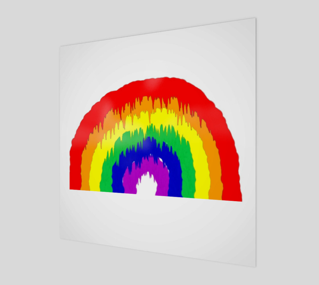 Dripping Rainbow Wall Art preview #1