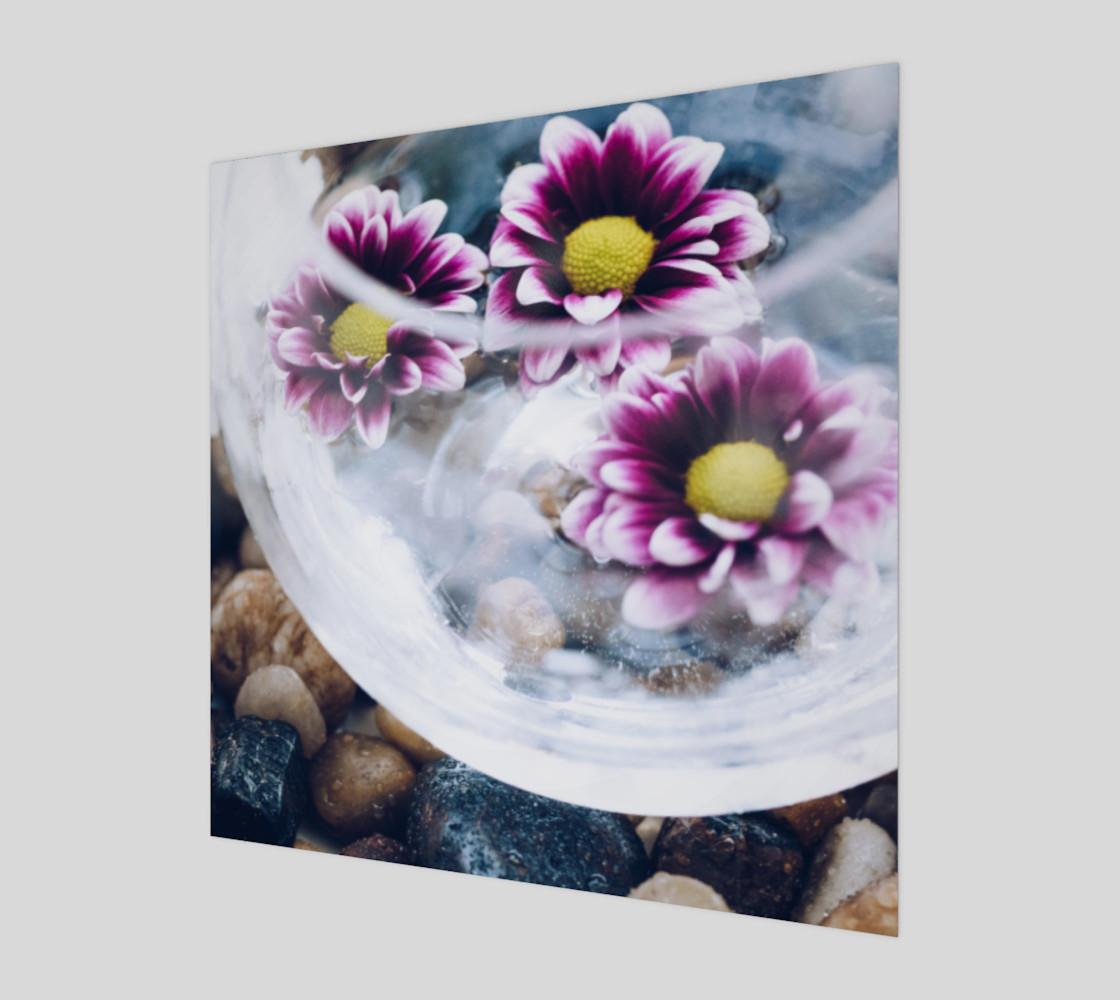 Aperçu de Purple Daisies Zen Wall Art #1