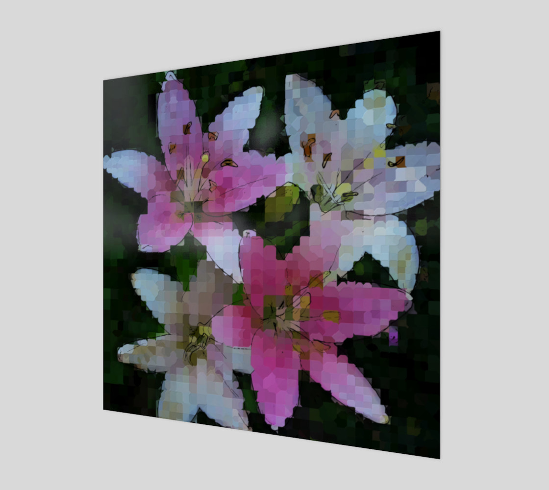 Pink Asiatic Lily Mosaic preview #1