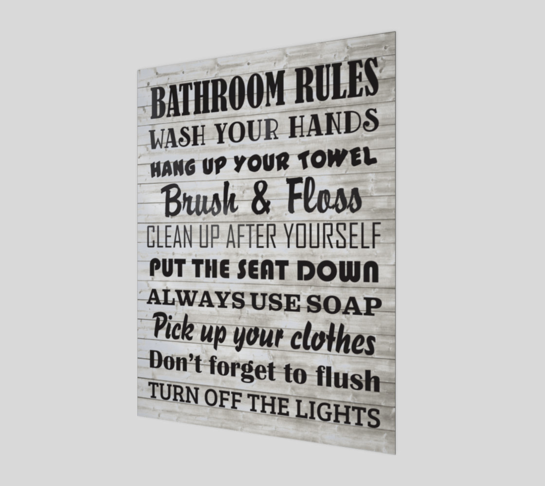 Bathroom Rules preview #1