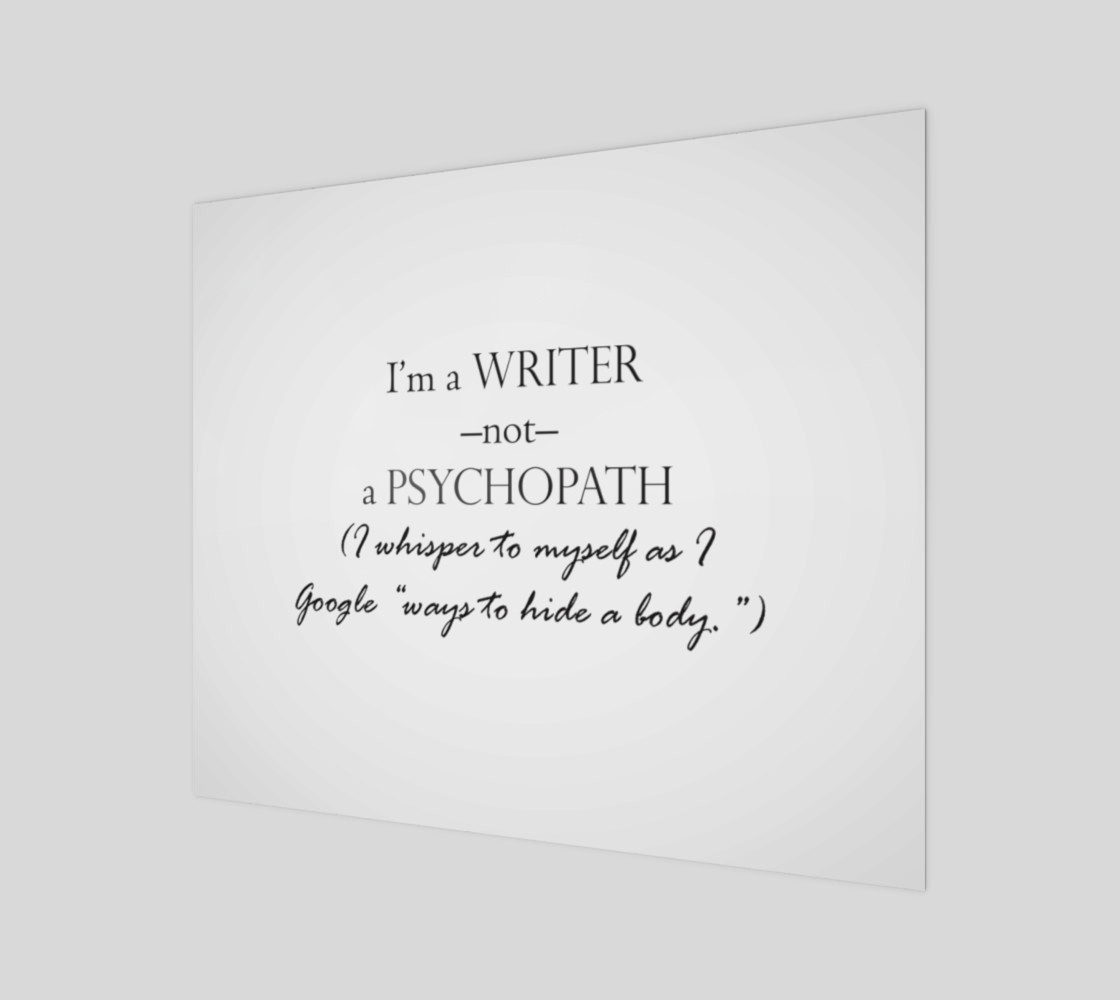 Writer Not Psycho Print preview #1