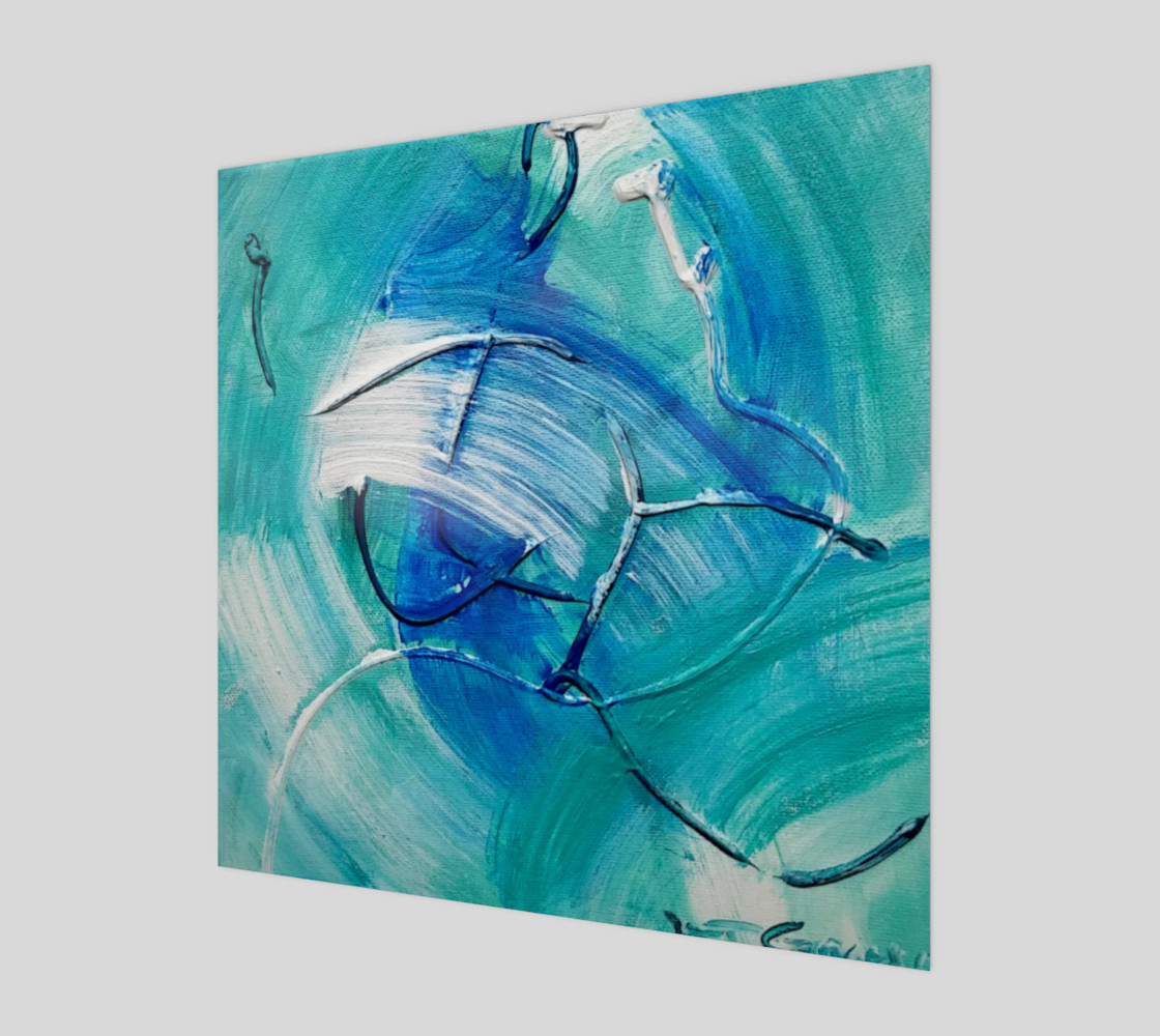 Sea Green Abstract Painting by Janet Gervers preview #1
