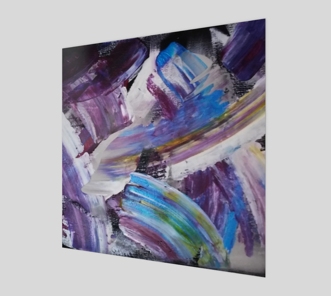 Energy Shift Abstract Painting by Janet Gervers Miniature #2