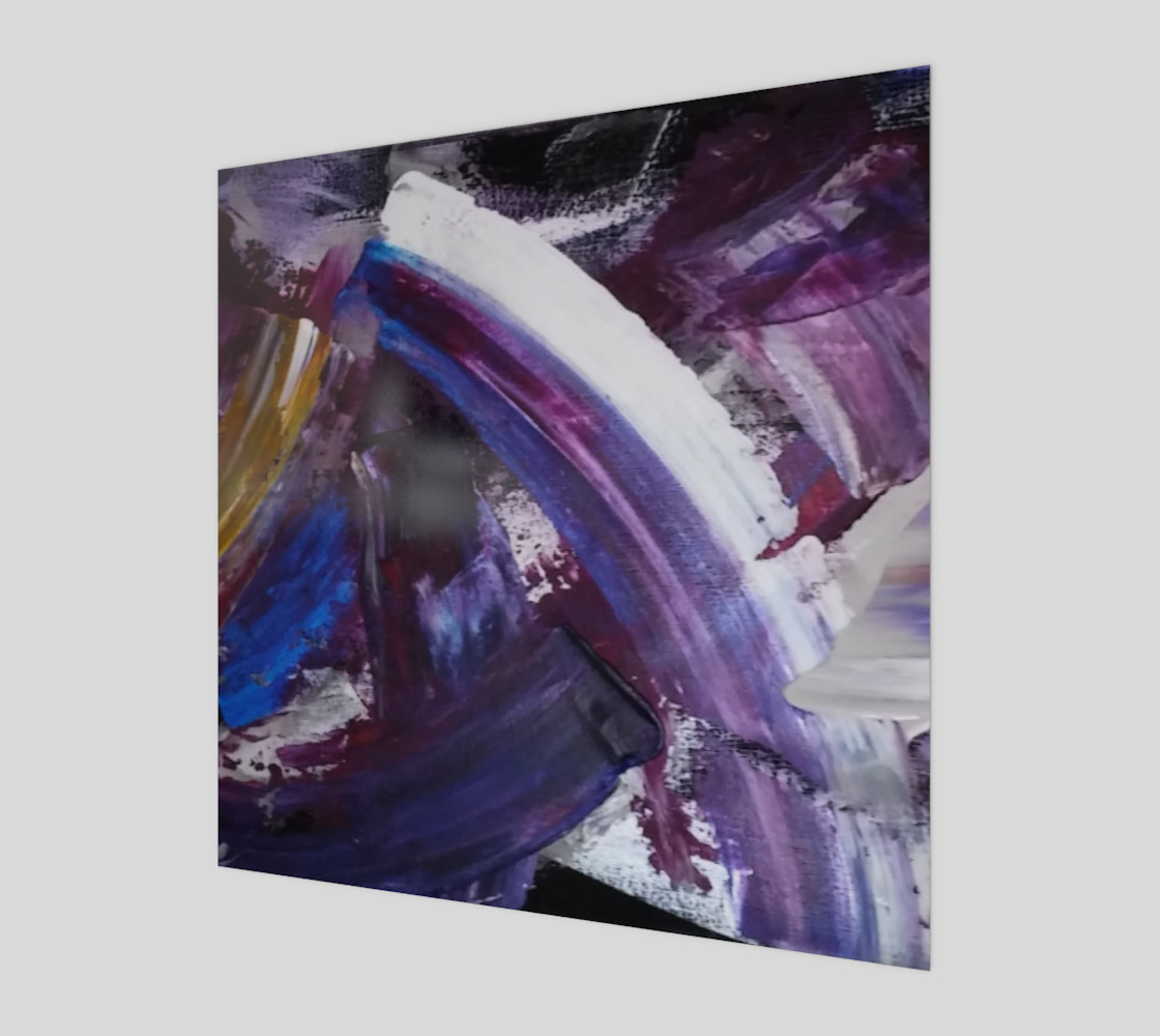 Energy Shift Wave - Abstract Painting by Janet Gervers preview #1