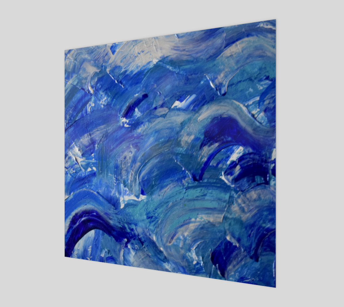 Shimmer Waves - Abstract Art by Janet Gervers 2018 preview #1