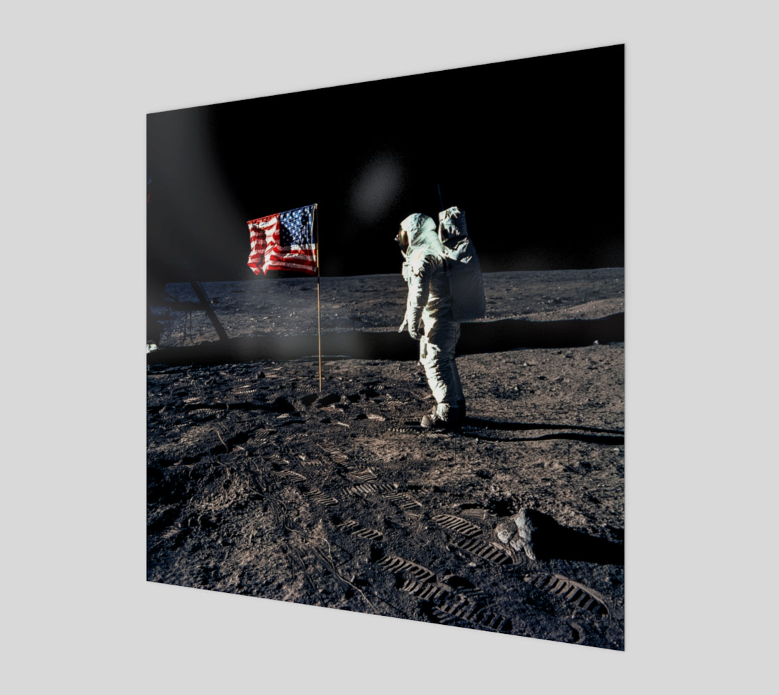 Buzz Aldrin and the U.S. Flag on the Moon preview #1