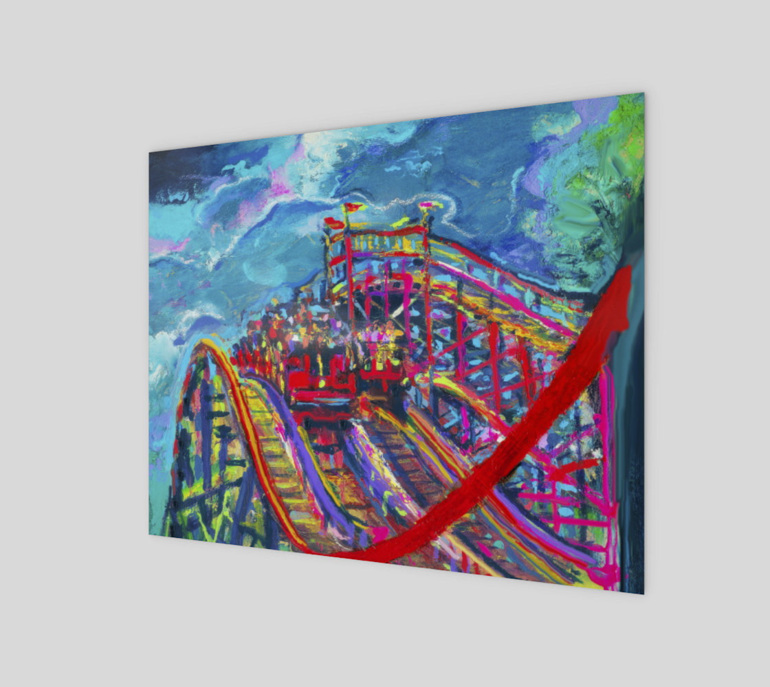 Roller Coaster Circus Fashion-Match Wall Print preview #1