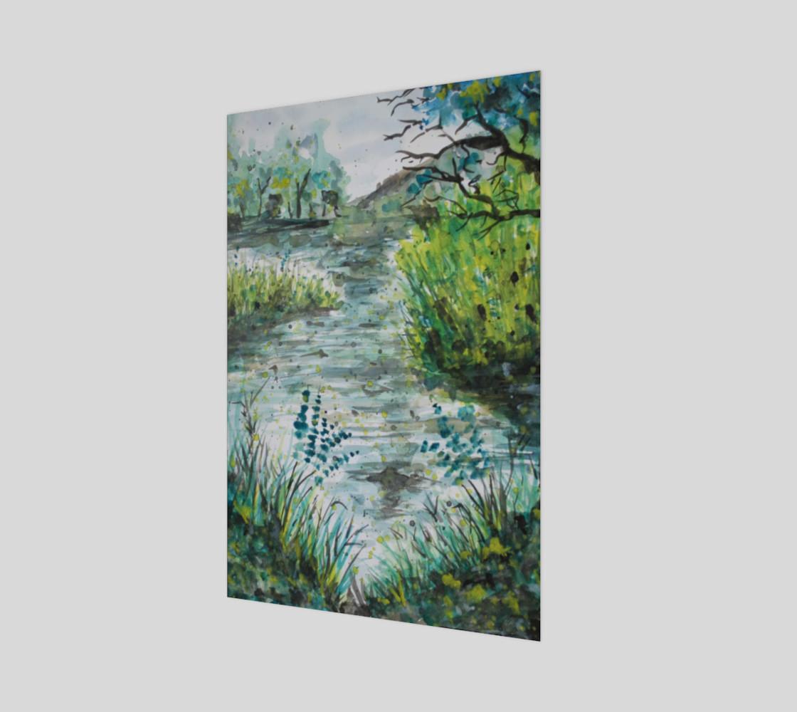 A Walk Along the Lake Watercolor preview #1