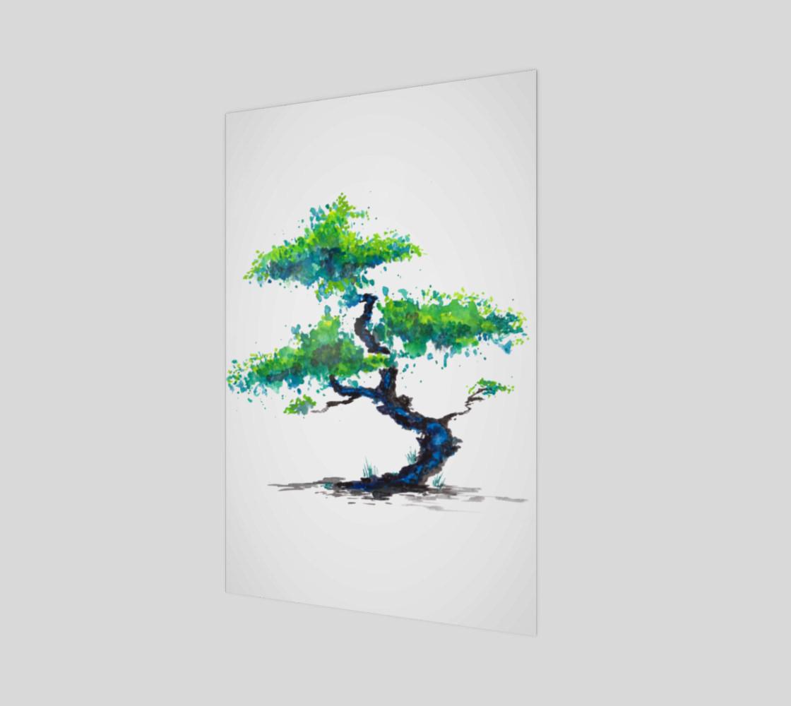 Blue Bonsai Watercolor  preview #1