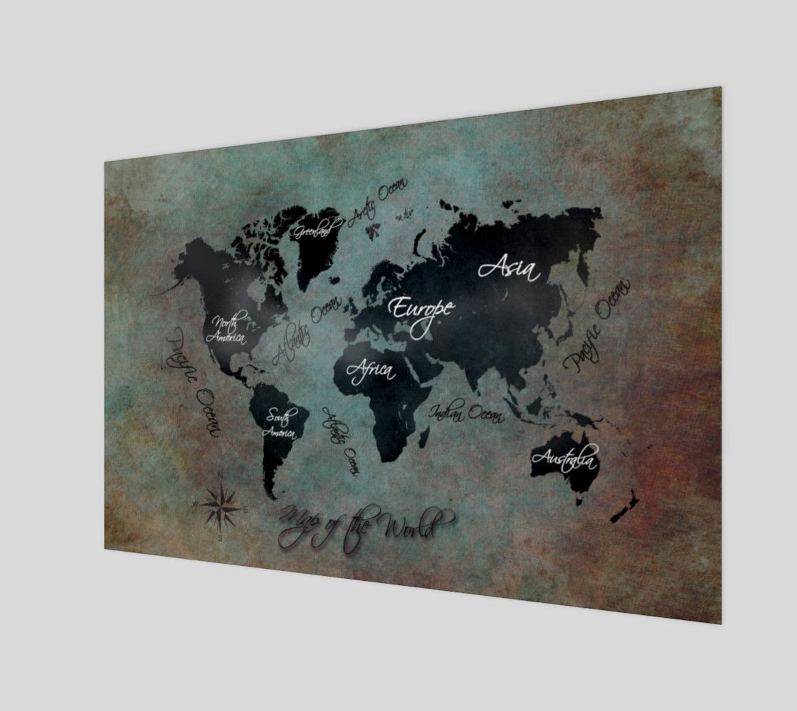 Map of the World art print preview #1