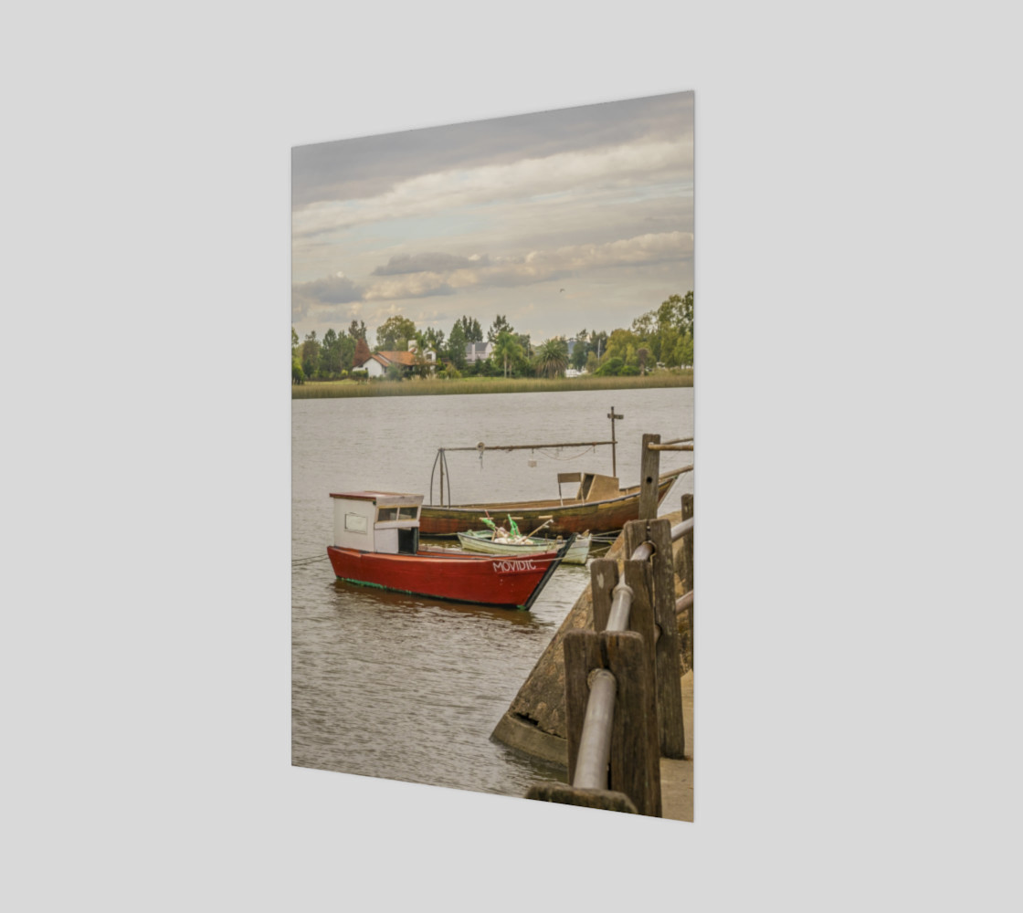 Fishing Boats at Santa Lucia River in Montevideo, Uruguay preview #1