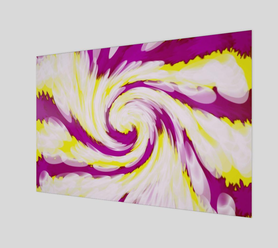 Aperçu de Bright Pink Yellow Swirl Abstract  #1