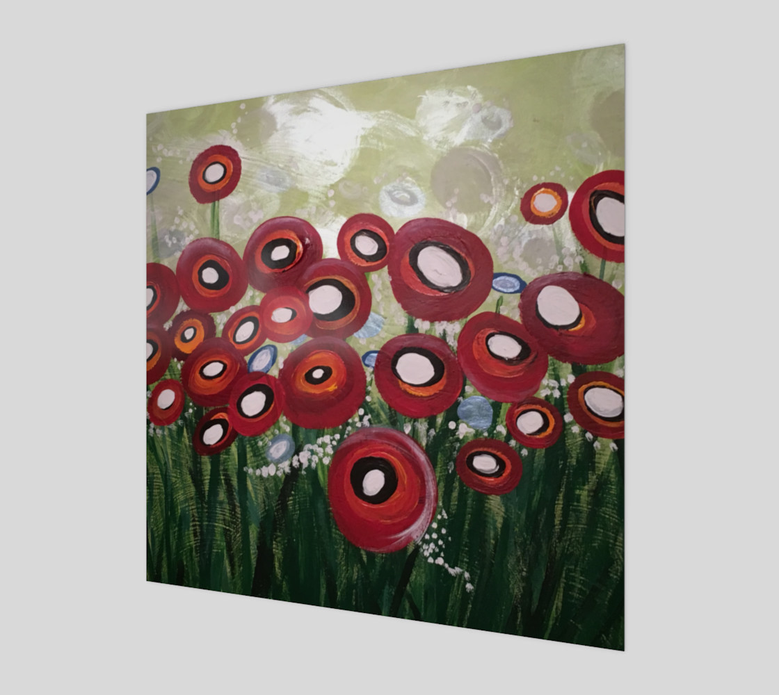 Whimsical Poppy Art Print preview #1
