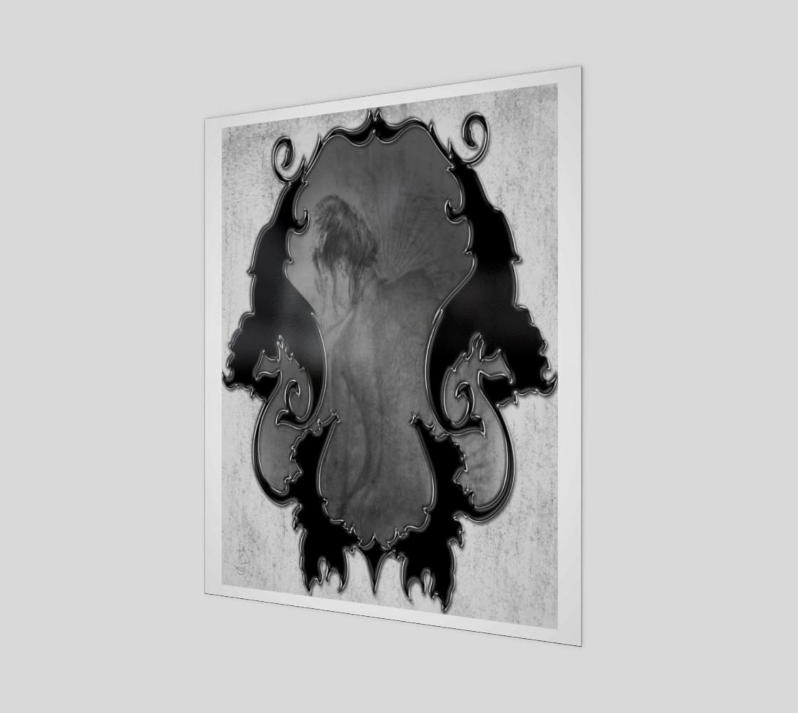 Illusion Fantasy Nude Art Print by Tabz Jones preview #1