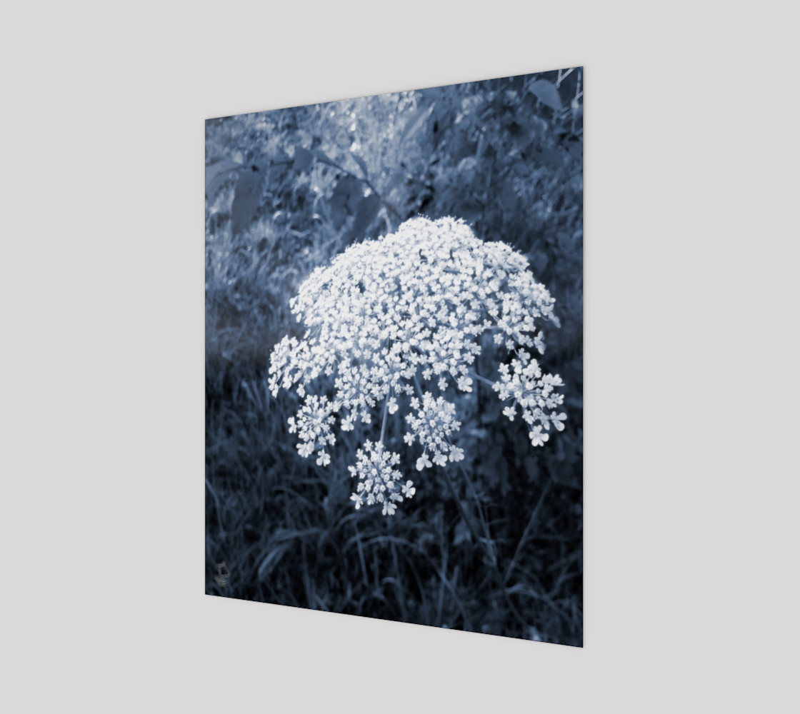 Blue Flowers Modern Art Print by Tabz Jones preview #1