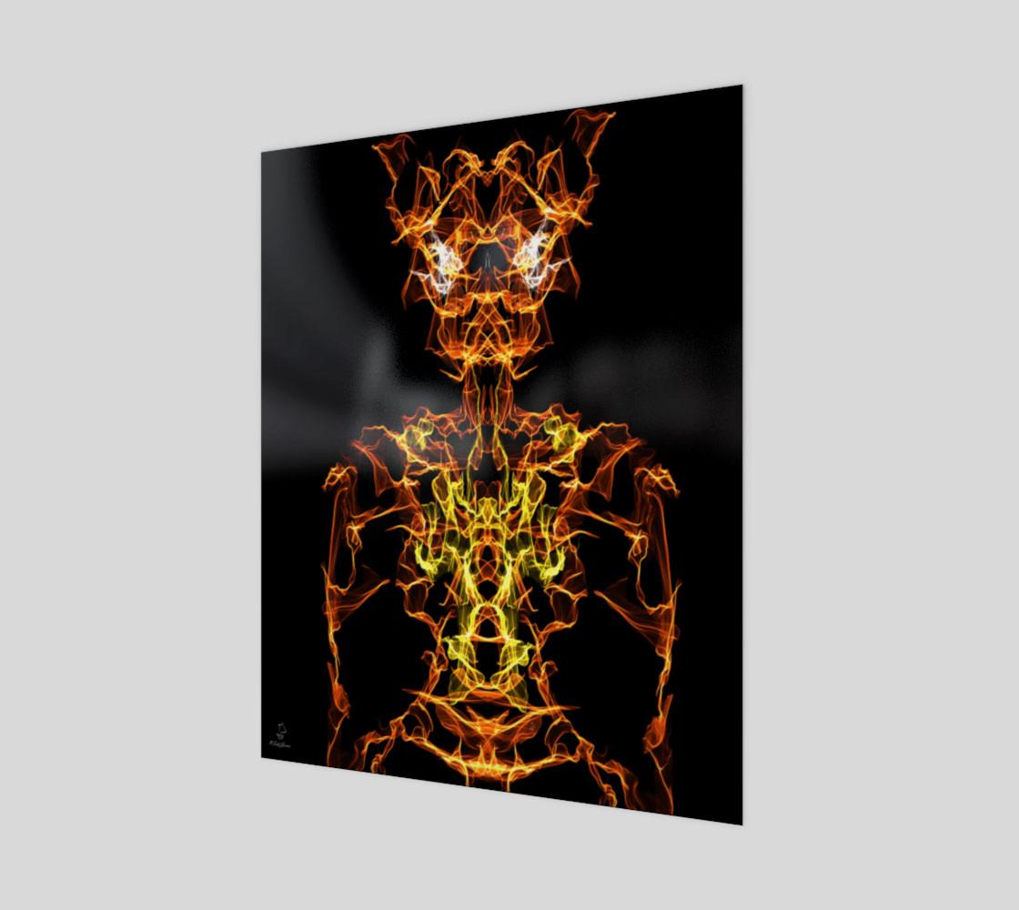 Demon Oracle fantasy art print by Tabz Jones preview #1