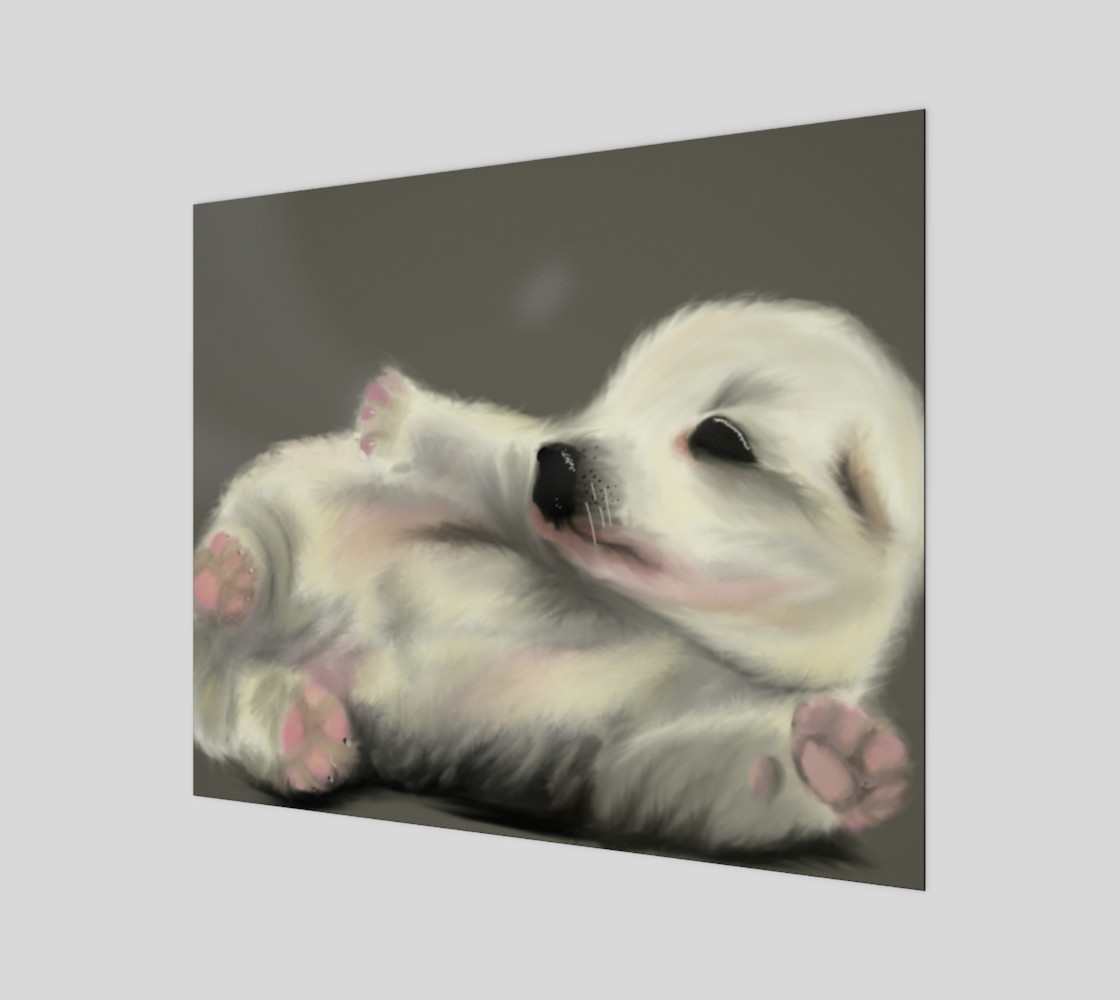 "Adorable Puppy Wall Art 24"" x 20"".__(' preview')"