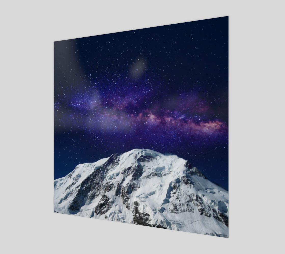 Snow + Galaxy Art Print preview #1