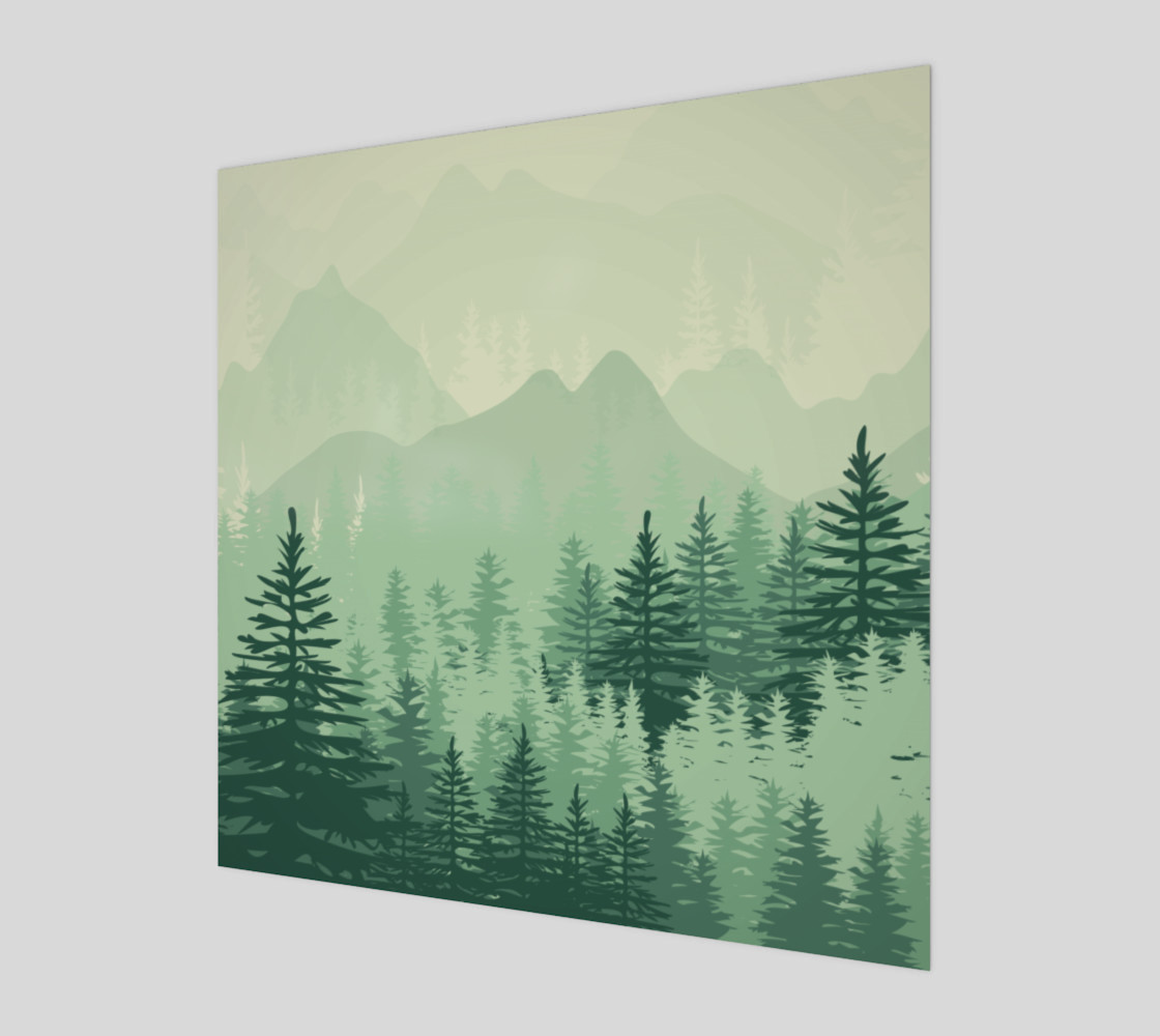 Forest Pine Art Print 3D preview