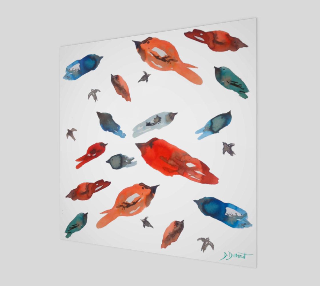 Aperçu de Wall art Little Fish Birds #1