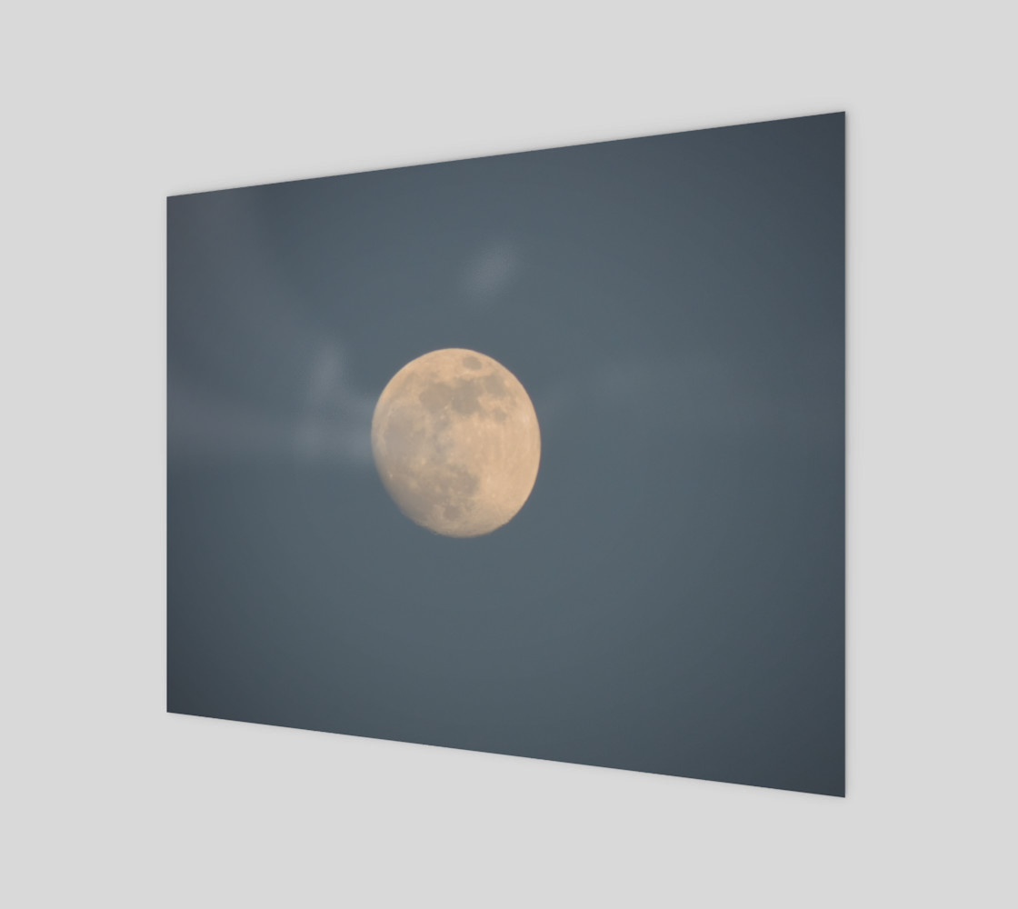 Moon and blue sky 3D preview