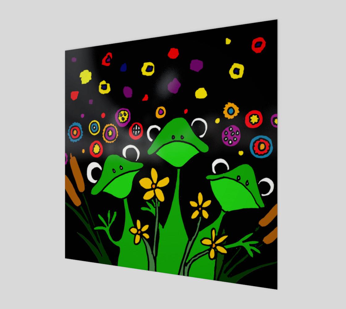 Aperçu de Funny Tree Frogs Abstract Art #1