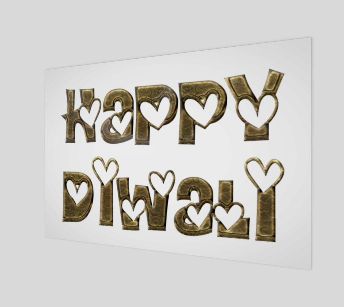 Aperçu de Festival of Lights Happy Diwali Greeting Typography Art Print #1