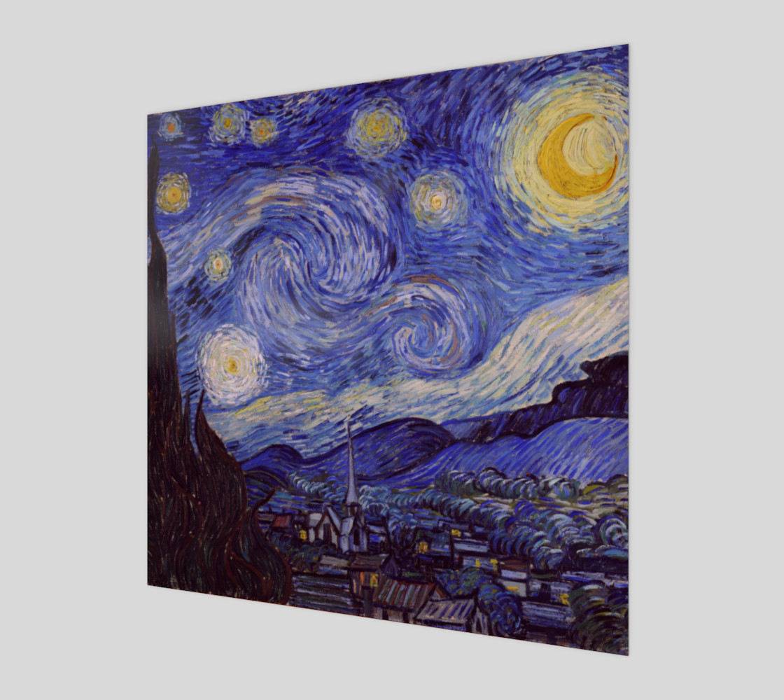 Vincent Van Gogh Starry Night Art Print preview #1