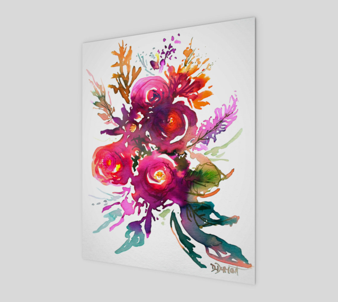 wall-art_Happy Roses preview #1