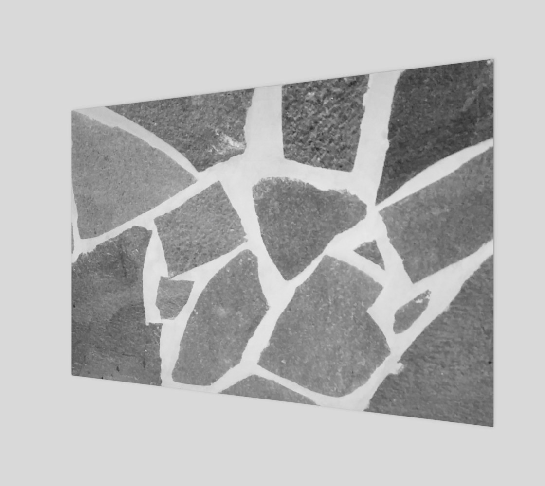 Gray White Stone Mosaic Pattern 3D preview