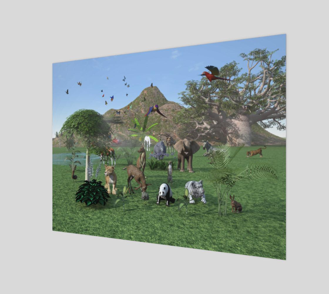 Aperçu de An exotic wild animal scene #1