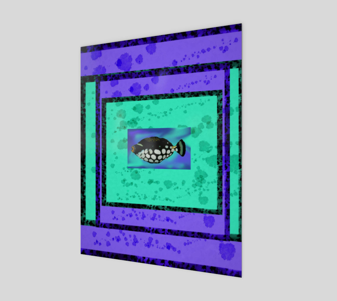 Tropical Fish on Turquoise & Purple preview #1