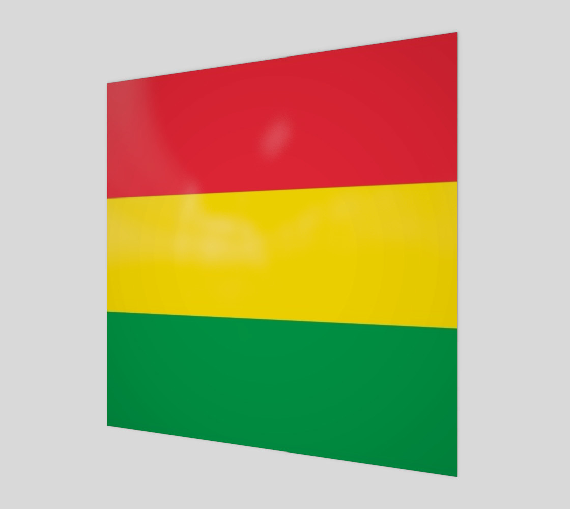 Rasta Colors Green Yellow Red Stripes Pattern preview #1