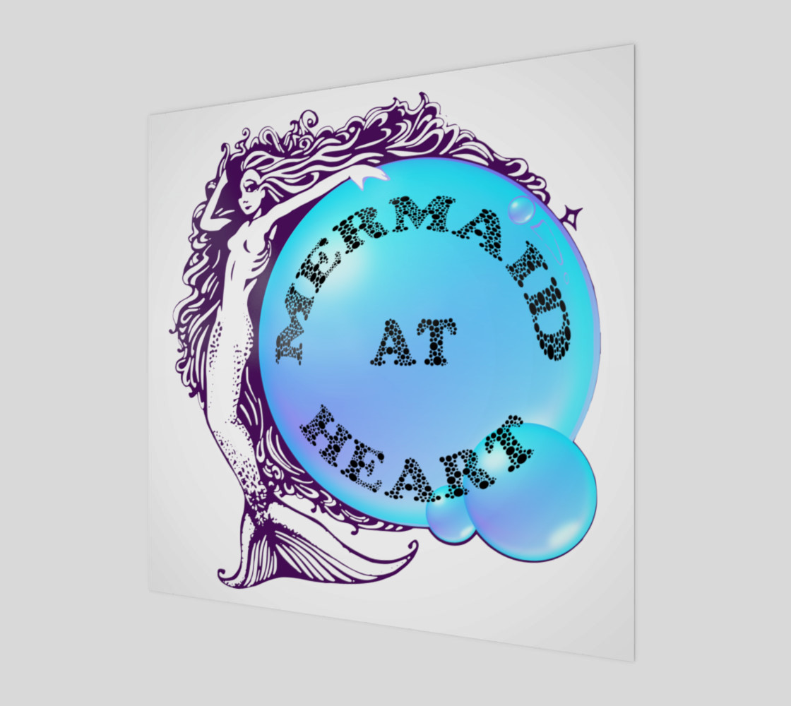 Mermaid at Heart Wall Art 3D preview
