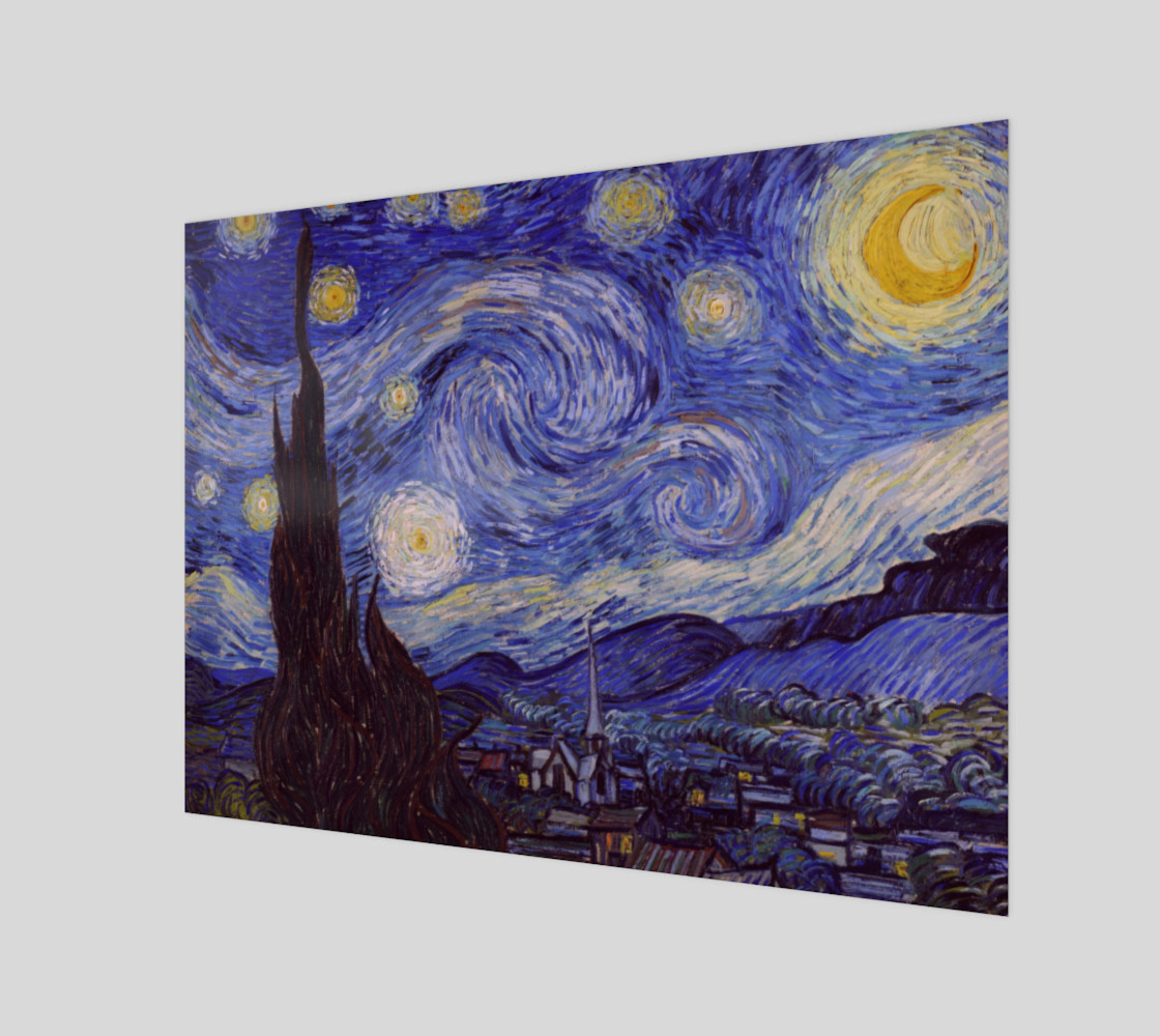 Vincent Van Gogh Starry Night Wall Art preview #1