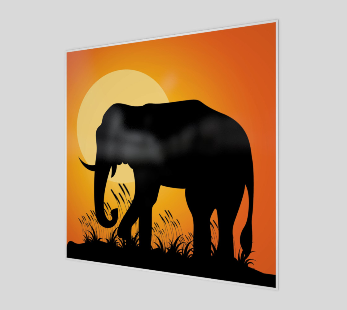 Elephant Silhouette preview #1