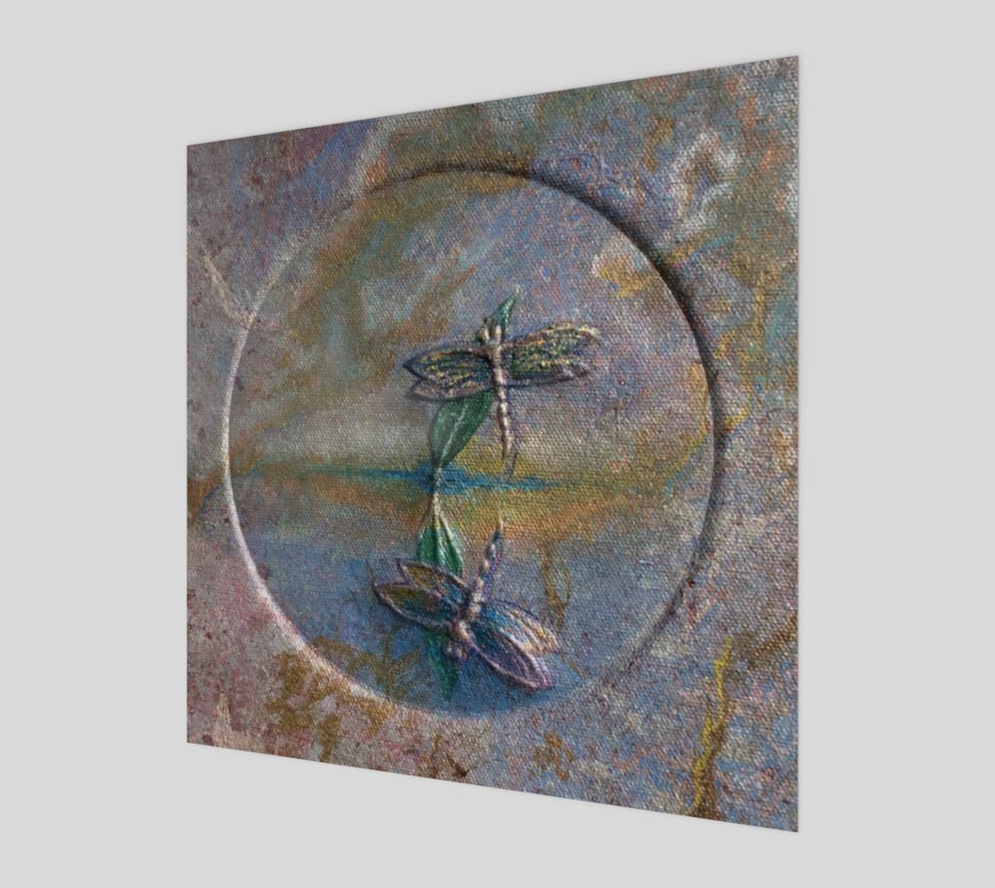 Aperçu de Reflecting Dragonflies Wall Art #1