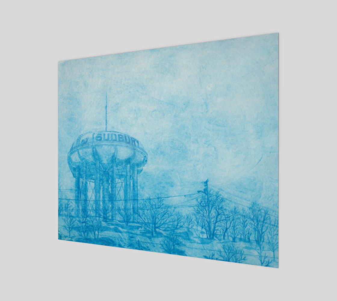 Aperçu de The Sudbury Water Tower Blue 20 x 24 #1