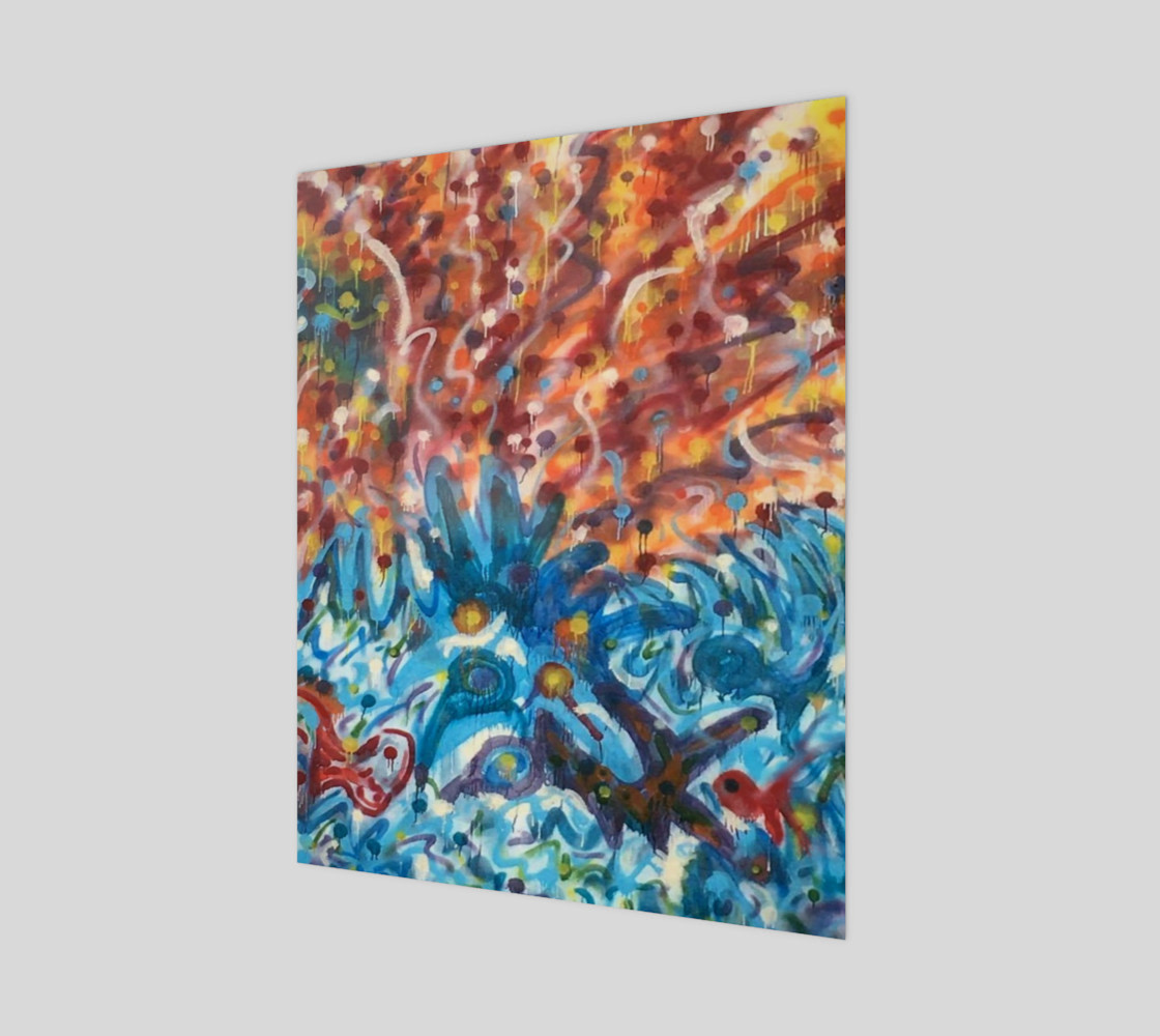 Life Ignition from Spray Painted Mural Poster preview #1