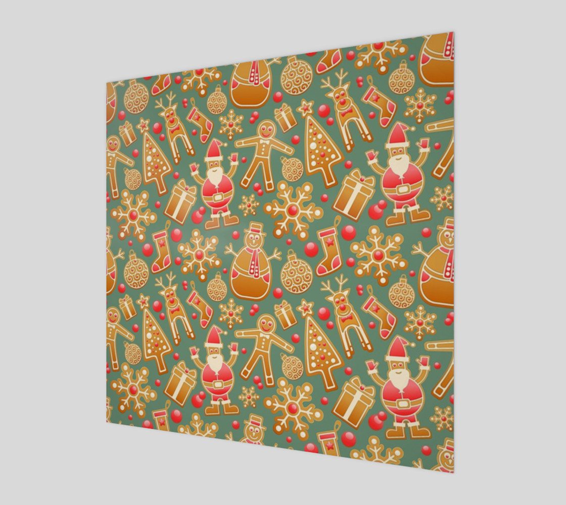 1950 Vintage Gingerbread Christmas Wall Art preview #1