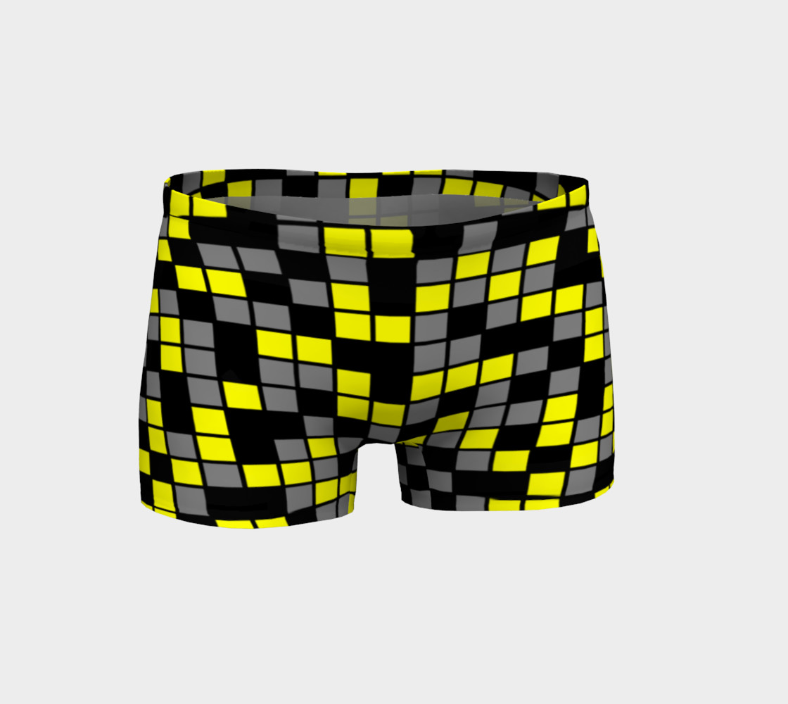 Aperçu de Yellow, Black, and Medium Grey Random Mosaic Squares #1