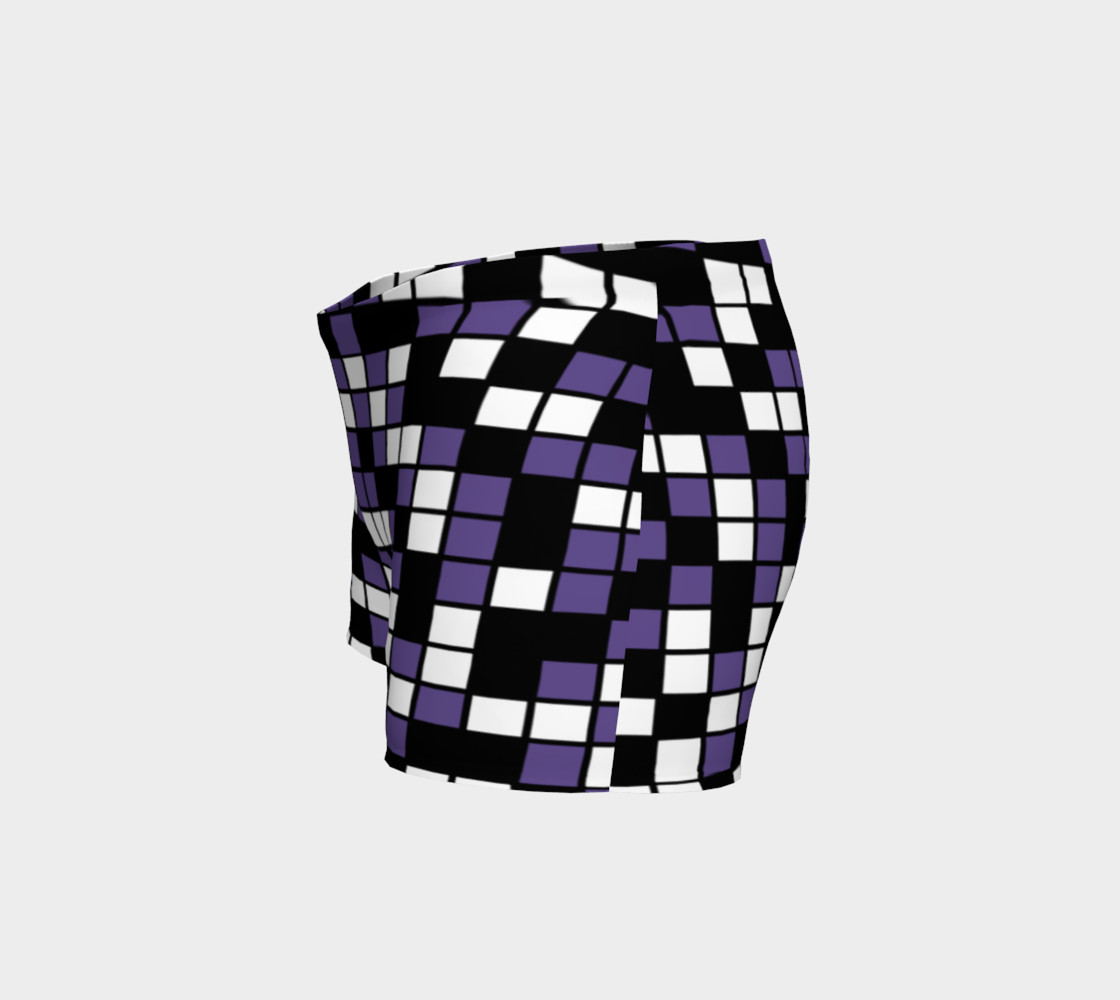 Ultra Violet Purple, Black, and White Random Mosaic Squares preview #2