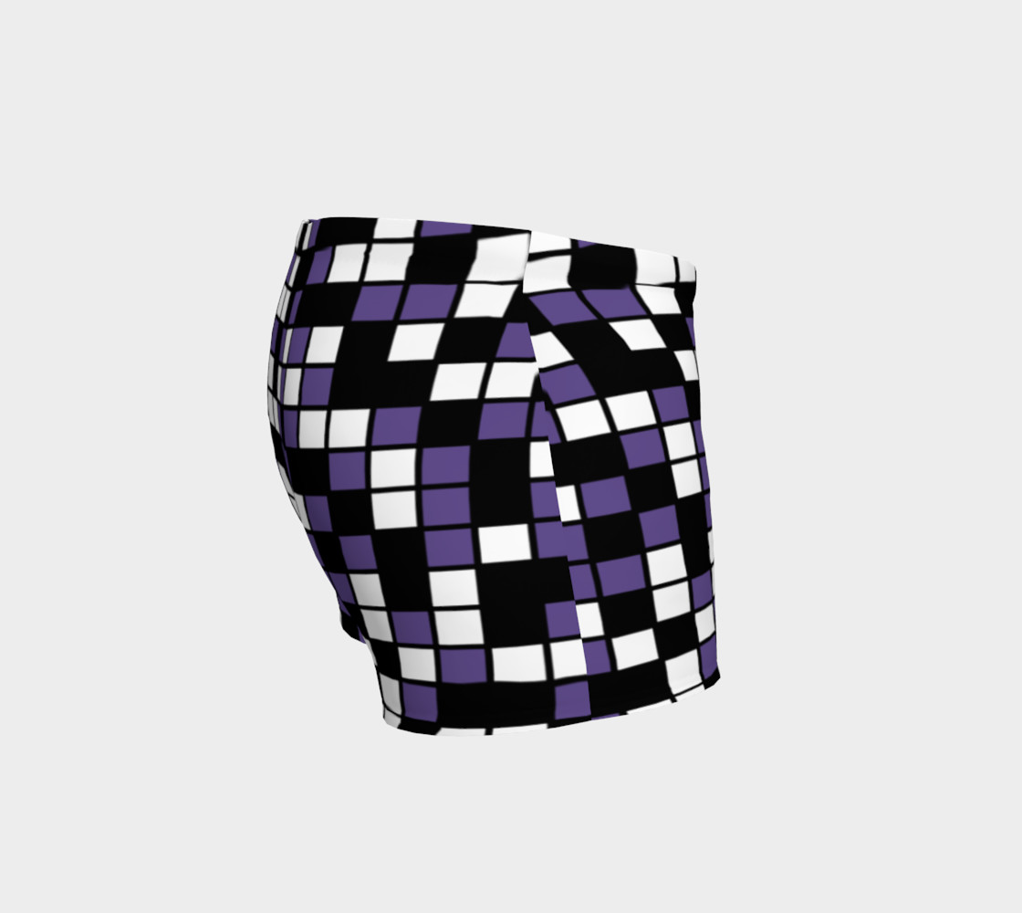 Ultra Violet Purple, Black, and White Random Mosaic Squares preview #3