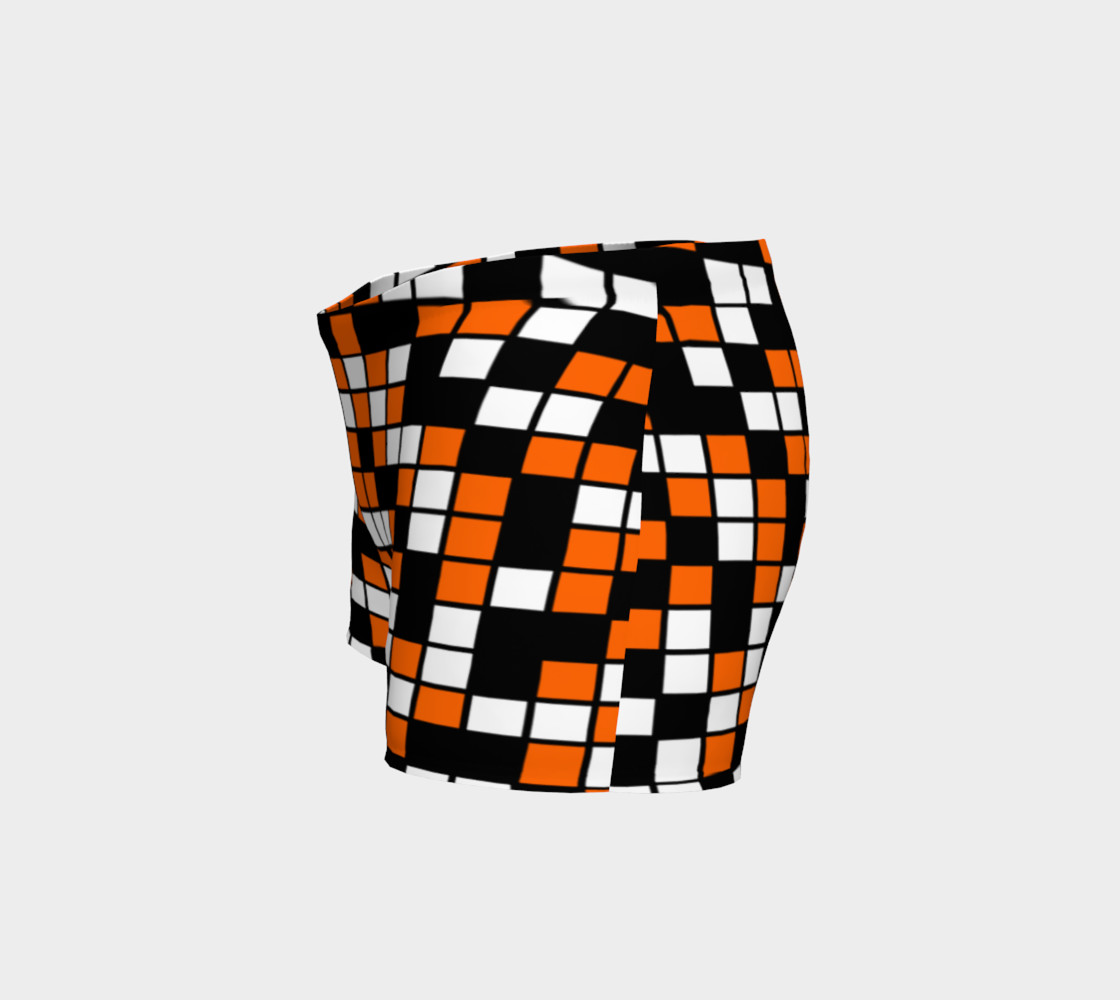 Orange, Black, and White Random Mosaic Squares preview #2