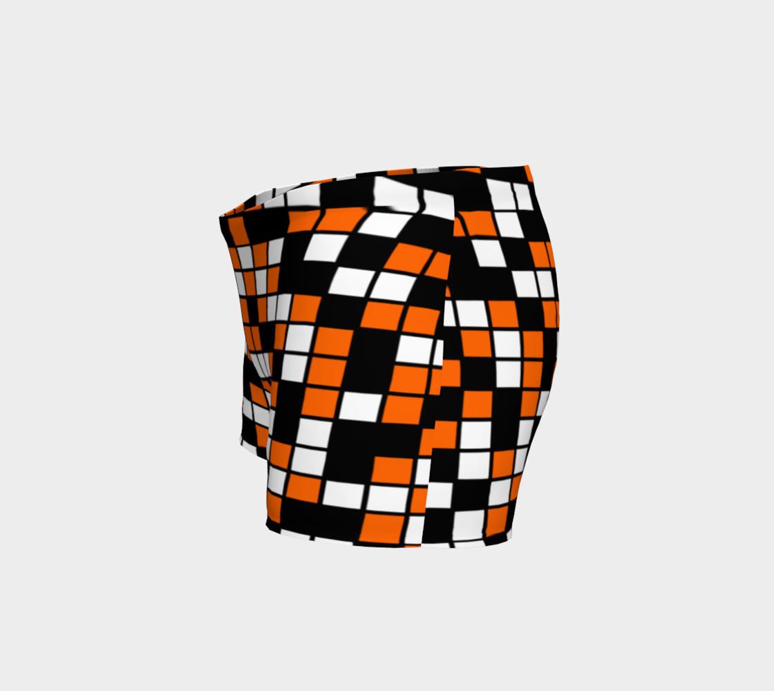 Aperçu de Orange, Black, and White Random Mosaic Squares #2
