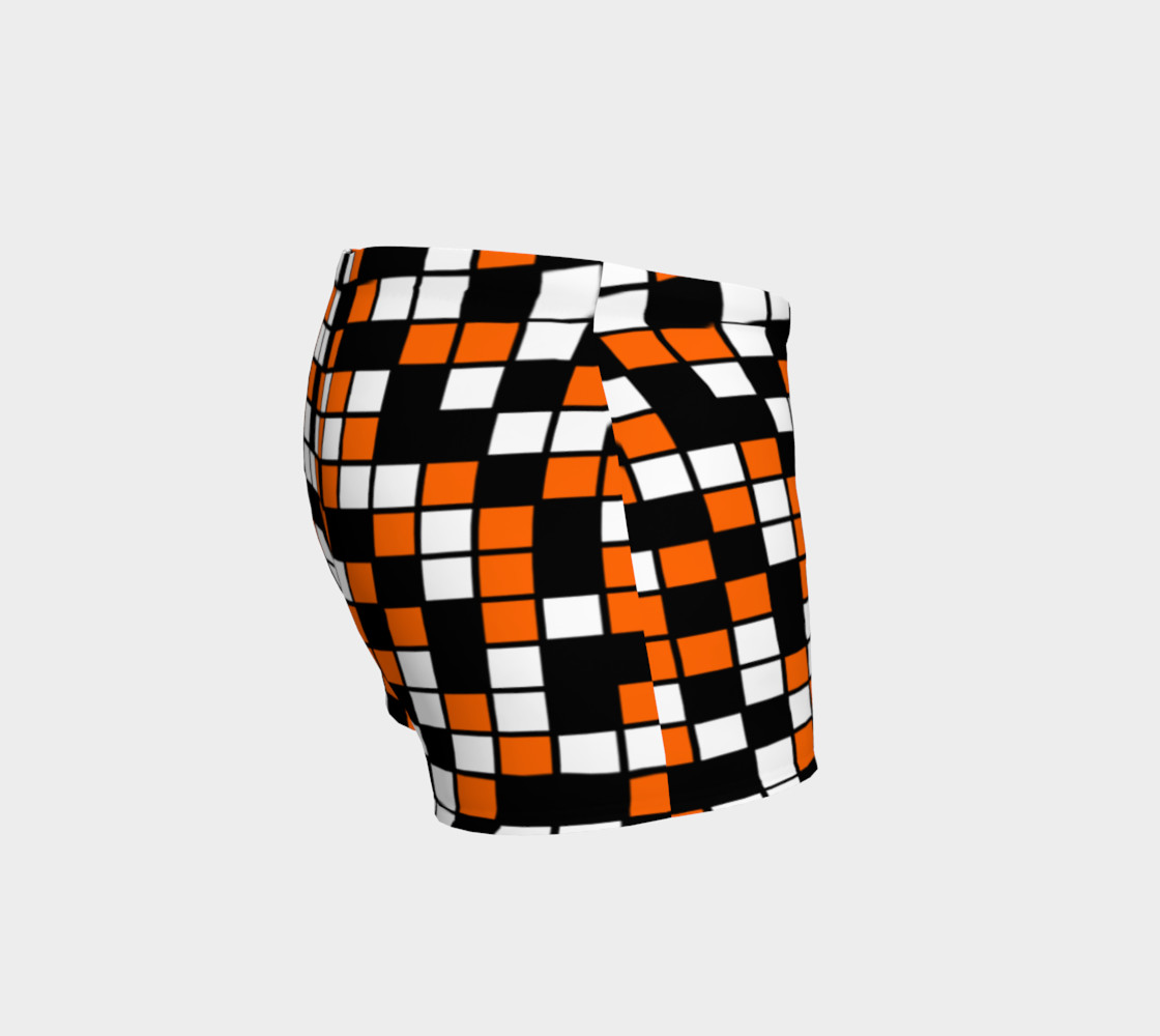 Orange, Black, and White Random Mosaic Squares preview #3