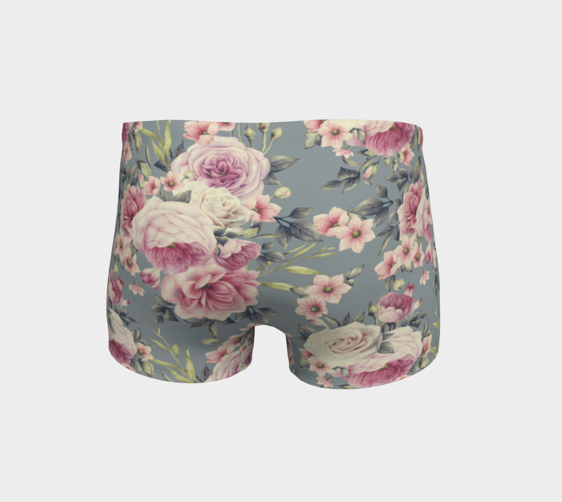 Vintage Pink Rose Shorts preview #4