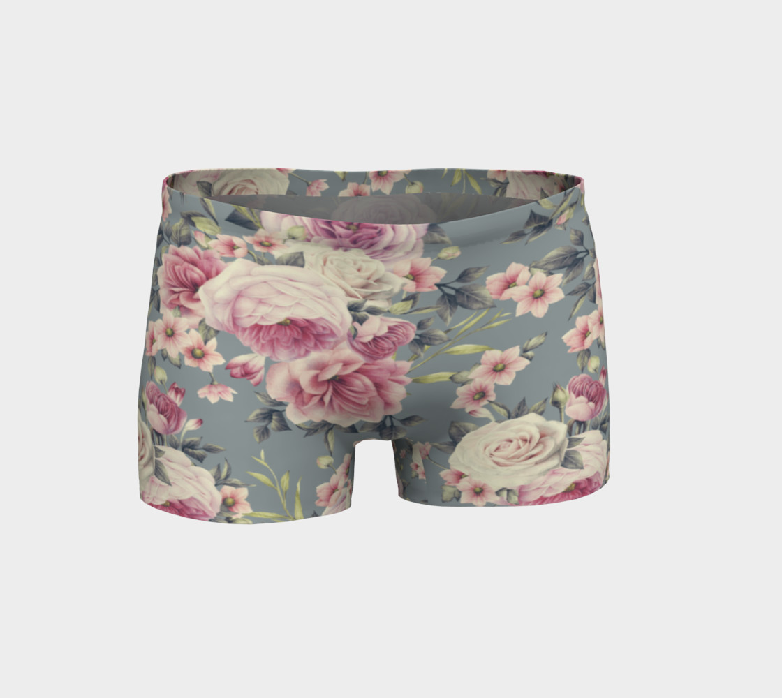Vintage Pink Rose Shorts preview #1