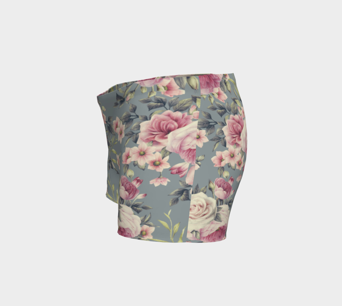 Vintage Pink Rose Shorts preview #2