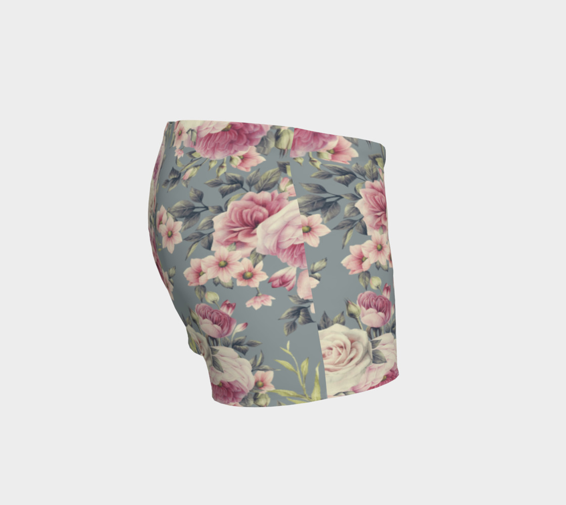 Vintage Pink Rose Shorts preview #3